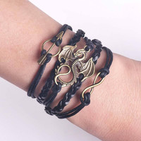 Game of Thrones Men Leather Bracelet