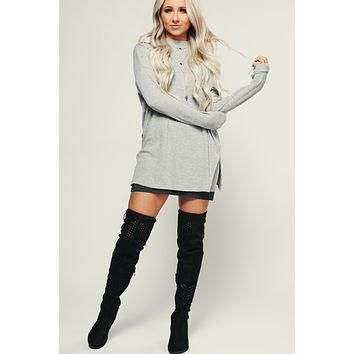 Pure Talent Ribbed Tunic (Heather Grey)