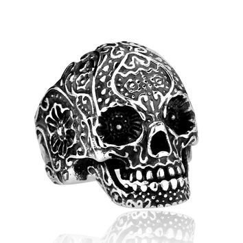 Ghost Era - Muerto Skull Ring - Silver/Black/Blue/Gold