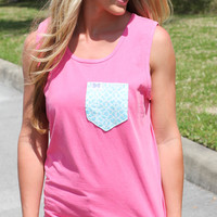 Frat Collection Tank - Coral