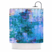 "Ebi Emporium ""The Reef"" Blue Teal Shower Curtain"