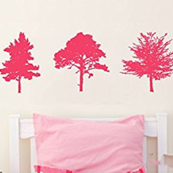 Wall Decal Vinyl Sticker Decals Art Decor Design Set Trees Corner Leaves Plants Flower Branch Forest foliage Dorm Bedroom Nursery (r 771)