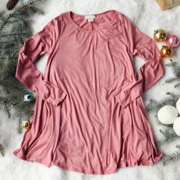 Soft & Cozy Tee in Rose