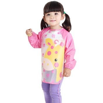 Nursing Apron 5 Styles Children's anti-dress baby long sleeve Lattice nursing covers bibs baby Dinner clothes BZ679107