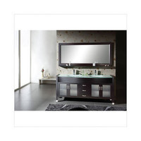 Virtu Ava 63'' Double Bathroom Vanity Set in Espresso