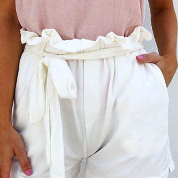 Sooner Or Later Shorts: Ivory