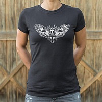 Ladies Death's Head Moth T-Shirt