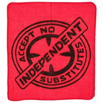 Independent Trucks Indy X Socal Accept No Substitutes Shop Rag - Red