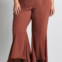 Plus Size High-Low Flared Pants