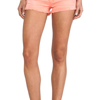 Frankie B. Jeans Summer Girl Short in Tangerine