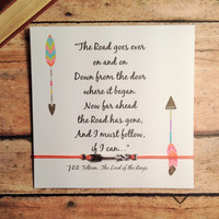 """Arrow Friendship Bracelet with Card 