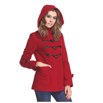 Women's Duffle Wool Coat w/ Hood