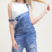 Medium Washed Overall Jeans