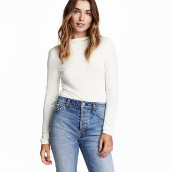 Mock-turtleneck Top - from H&M