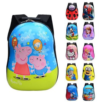 Kindergarten children primary school students book bag custom bag new cartoon hard shell durable large capacity bag