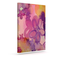 "Louise Machado ""Dissolved Flowers"" Outdoor Canvas Wall Art"