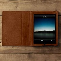Artisan Leather iPad Pocket | Artisan Leather Covers | Restoration Hardware