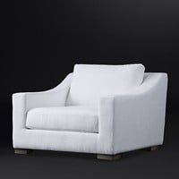 Modena Slope Arm Fabric Chair