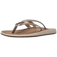 JSport by Jambu Womens Baltimore Vegan Leather Metallic Flip-Flops