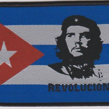 Che Guevara Sew On Patch Revolution Flag Logo
