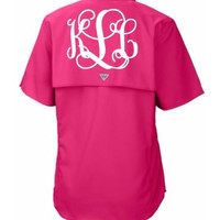 Monogram Columbia Fishing Shirt PFG Personalized Fishing Shirt