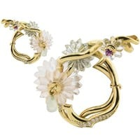 Alice Cicolini Summer Snow Loop Earrings with Diamonds