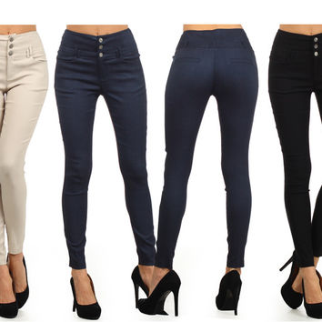 Women Low Rise Stretch Slim Fit Skinny Jeggings Tight Denim Pant