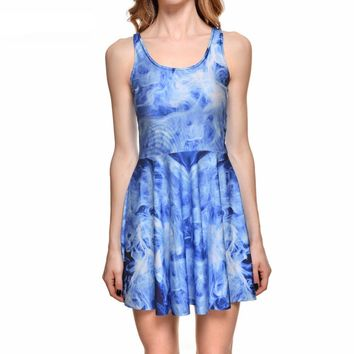Psychedelic Smoke Blue Dress