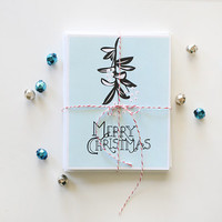 Modern Merry Christmas Cards - Set of 6