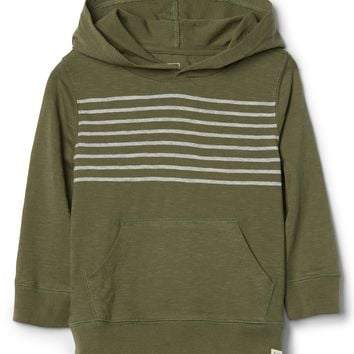 Chest-Stripe Hoodie Sweatshirt|gap