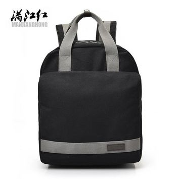 Student Backpack Children Fashion Canvas Backpack Women's Female Student Backpack Large Waterproof Men Style Preppy Bag for Laptop Backpack Bags1392 AT_49_3