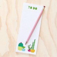 Cactus To Do List Notepad