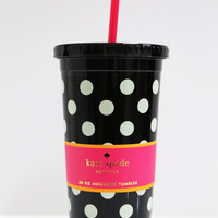 Black Polkadot Insulated Tumbler: Kate Spade