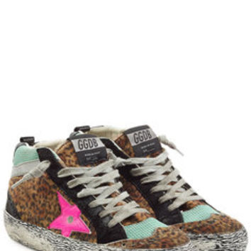 Suede and Faux-Fur Mid Star Sneakers - Golden Goose | WOMEN | US STYLEBOP.COM