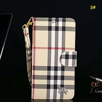 LV Louis Vuitton & Burberry & GUCCI New fashion monogram leather couple protective cover phone case 3#
