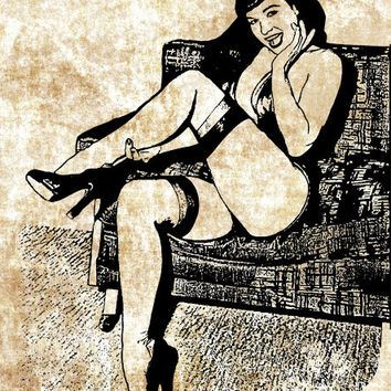 mistress pinup girl PNG clip art Digital Image Download beauty erotica graphics adult art printables