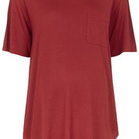 MATERNITY Jersey Pocket Tee - Berry Red
