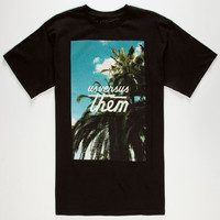 Us Versus Them Paradise Mens T-Shirt Black  In Sizes