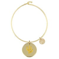 Eden Cactus Charm Bangle