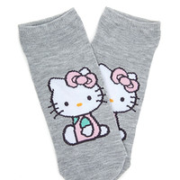 FOREVER 21 Hello Kitty Ankle Socks Grey/Pink One