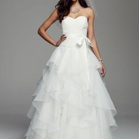 Strapless Organza Ball Gown with Rufled Skirt - David's Bridal