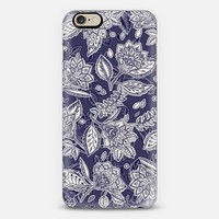 Decorative Floral Pattern in Navy and Cream iPhone 6 case by Micklyn Le Feuvre   Casetify