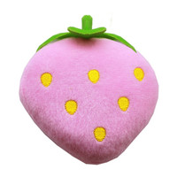 "Strawberry 5"" Dog Squeaky Toy"