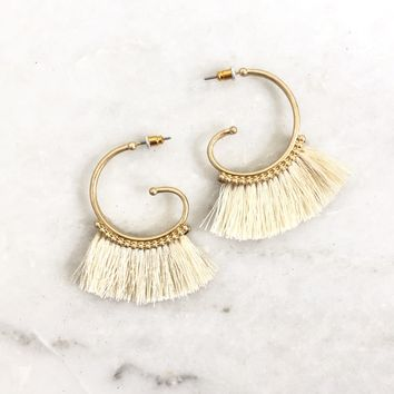 Sea Cliff Tassel Earrings