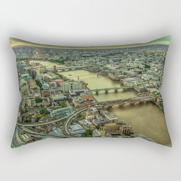 THE CITY OF LONDON Rectangular Pillow by Adorehandcrafted