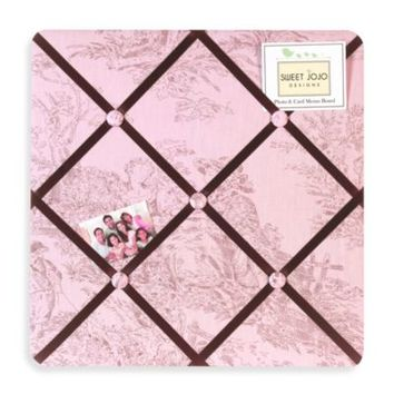Sweet Jojo Designs French Toile and Polka Dot Fabric Memo Board in Pink/Brown