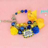 Down Syndrome down right perfect bracelet with polymer clay charm