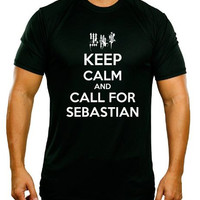 Keep Calm and Call For Sebastian - Black Butler Parody Shirt in a Choice of ColorsSizes 2T - Adult 3XL (including Ladies)- Manga - Anime