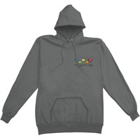 Grateful Dead Men's  Bear Head Hooded Sweatshirt Grey