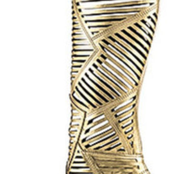 LASER CUT KNEE HIGH BOOT